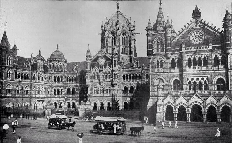 An old photo of the Victoria Terminus