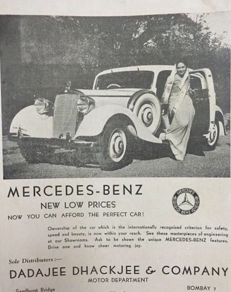 A Mercedes Benz advertisement from the 1930s