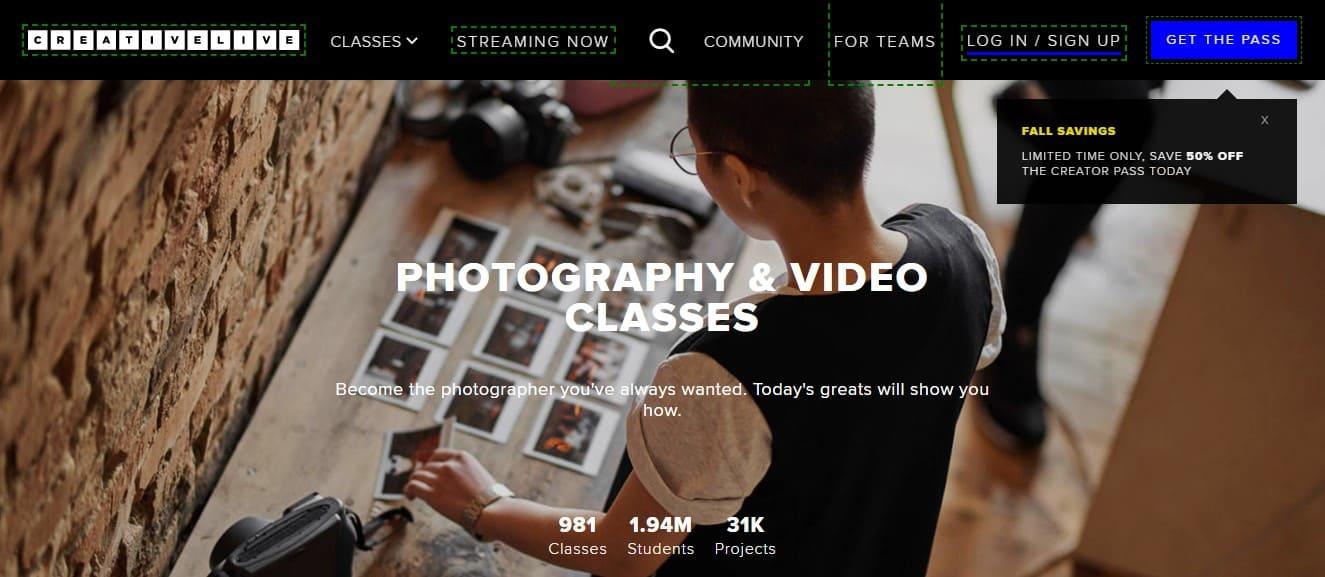 Creative Live photo sessions