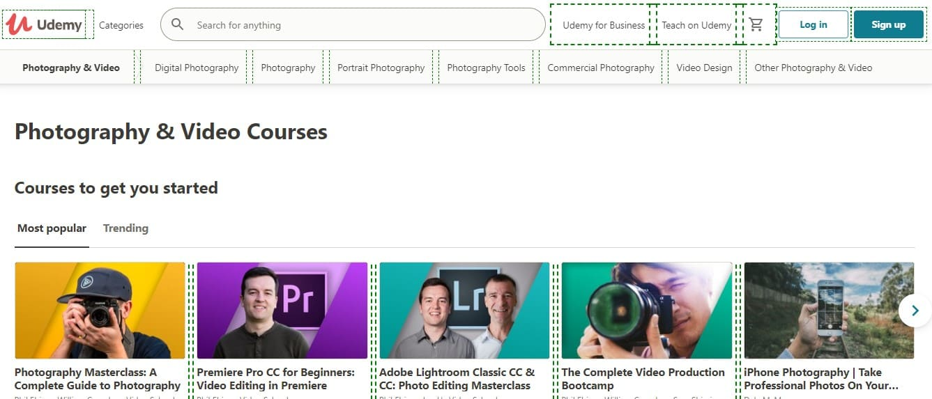 Udemy learn new things