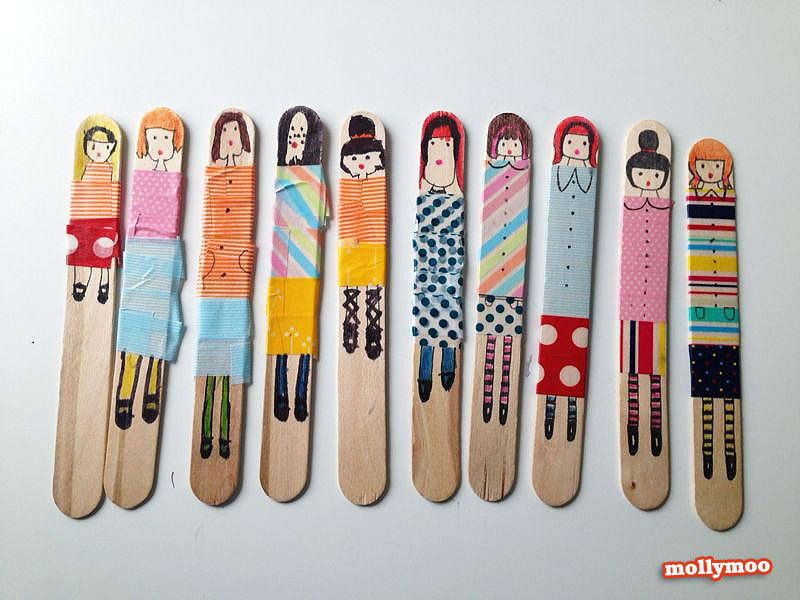 easy art and craft ideas for kids - stick dolls