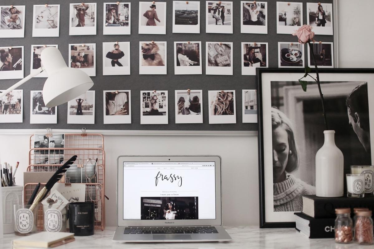 easy DIY wall decor ideas - polaroid wall