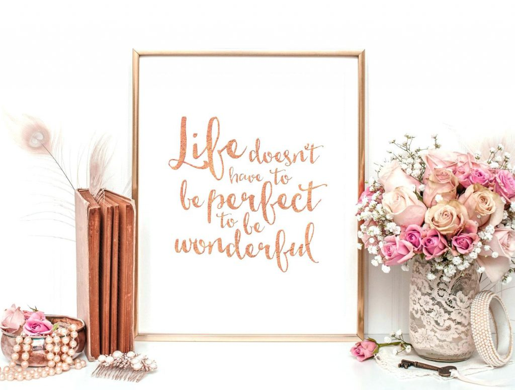 easy DIY wall decor ideas - brush lettering quotes
