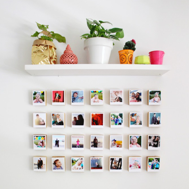 easy DIY wall decor ideas - instagram gallery