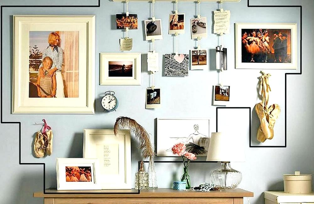 quick easy photo wall ideas - DIY gallery wall ideas (10)