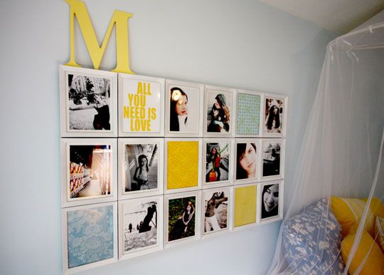 quick easy photo wall ideas - DIY gallery wall ideas (14)