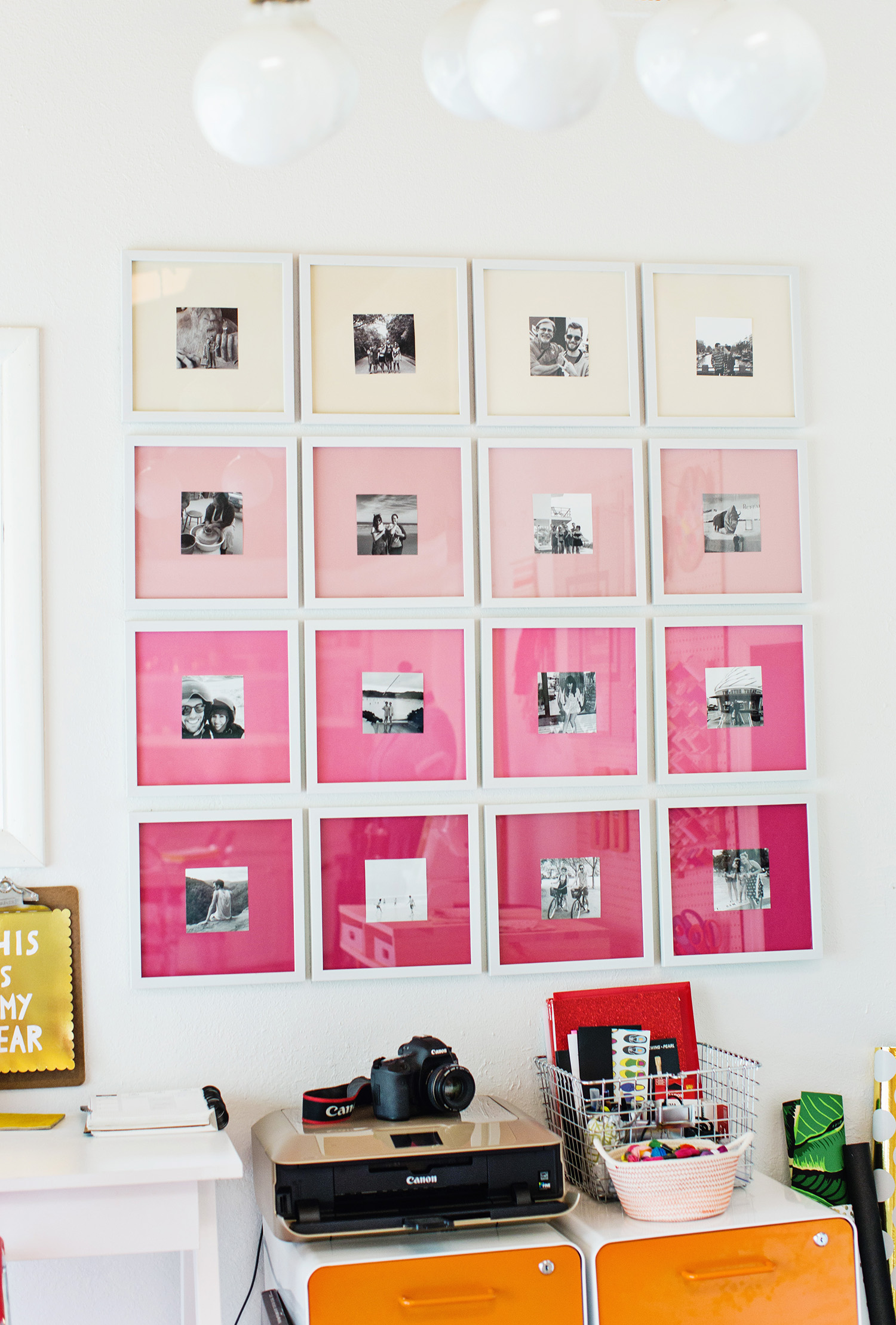 quick easy photo wall ideas - DIY gallery wall ideas (18)