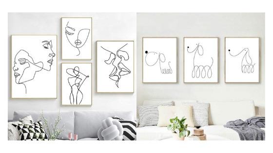 unique line art prints