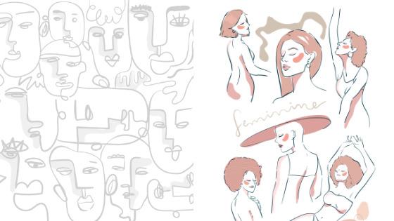 line art drawings