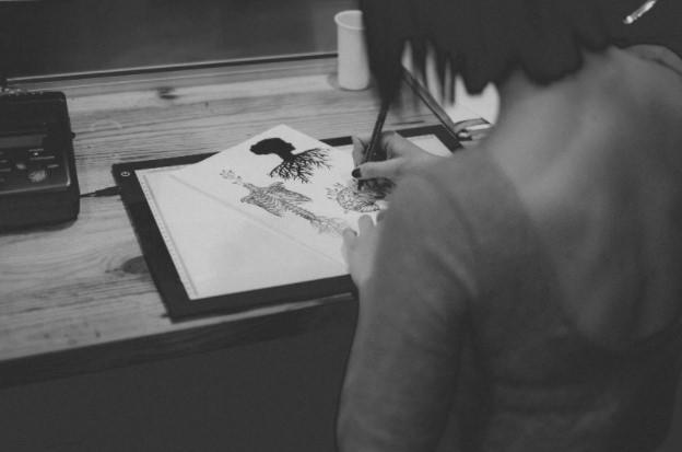 Create line art works