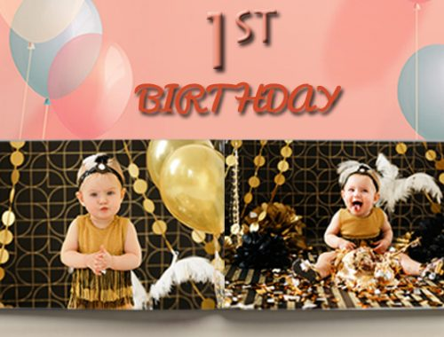 baby's first birthday photobook