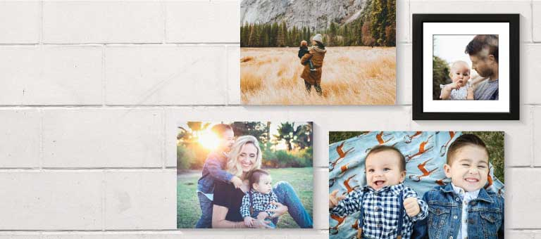 printing personalized photo family wall