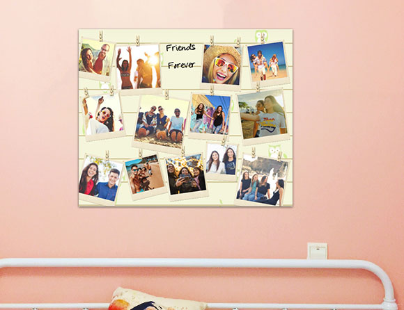 fill your walls with photo collages