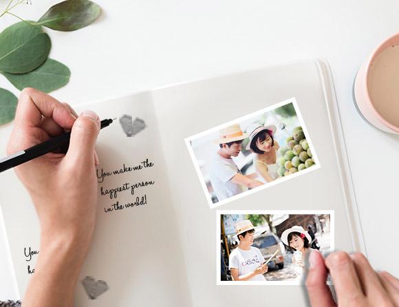 creativity with mini photo prints